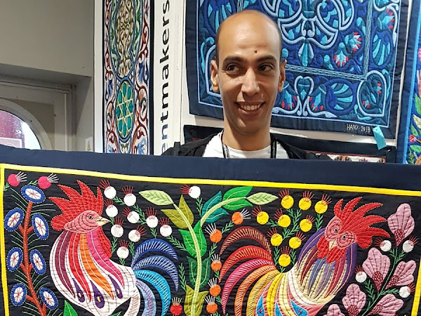 An Egyptian purchase at the Festival of Quilts