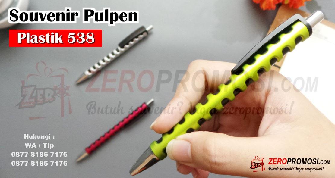 Jual Souvenir Pulpen Plastik Custom Logo Kode 538