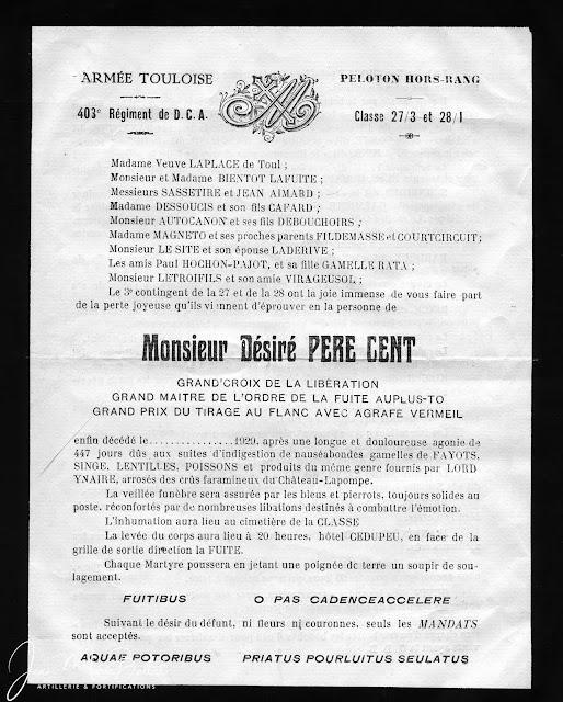 403e RADCA fairepart du Père Cent [1929]