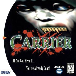 Carrier Sega Dreamcast horror game cover art