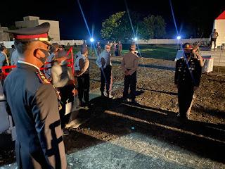 Kapolres Luwu Utara Pimpin  Apel Kehormatan dan Renungan suci dalam Rangka HUT Kemerdekaan RI ke-75