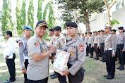 Polres Mataram Gelar Upacara Hari Sumpah Pemuda Dirangkai Pelepasan Anggota Yang Purna Tugas