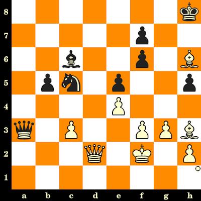 Les Blancs jouent et matent en 3 coups - Olafsson vs James Sherwin, Copenhague, 1953