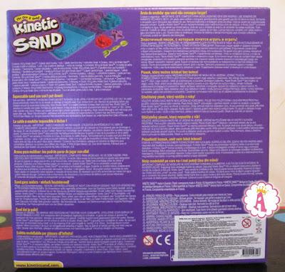 Коробка с фиолетовым кинетическим песком