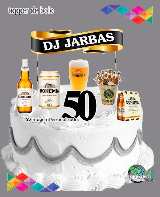 Boteco Cerveja Bohemia dicas e ideias para decoração de festa personalizados topo de bolo
