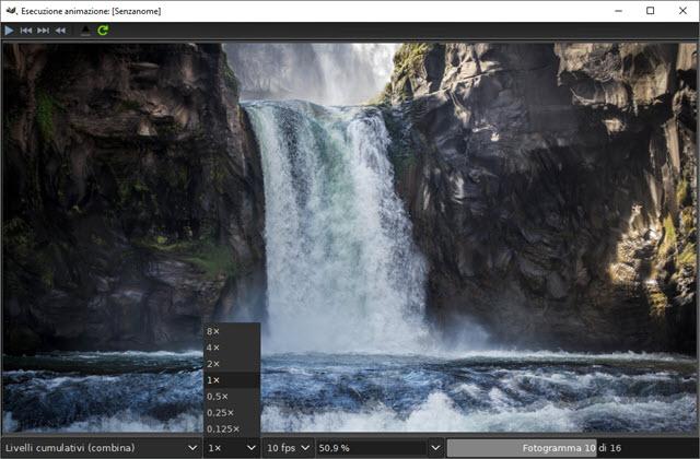 anteprima della GIF velocità e zoom