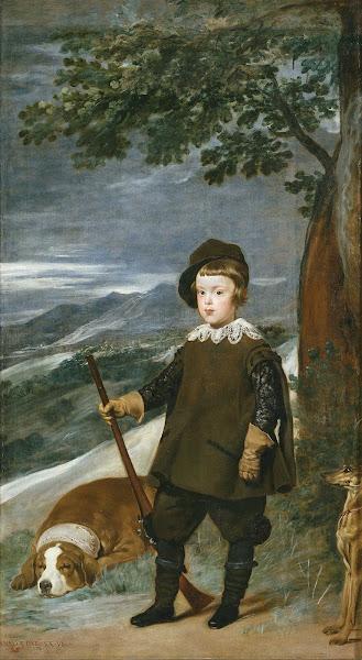 Диего Веласкес - Портрет принца Бальтазара Карлоса в образе охотника (1635-1636)