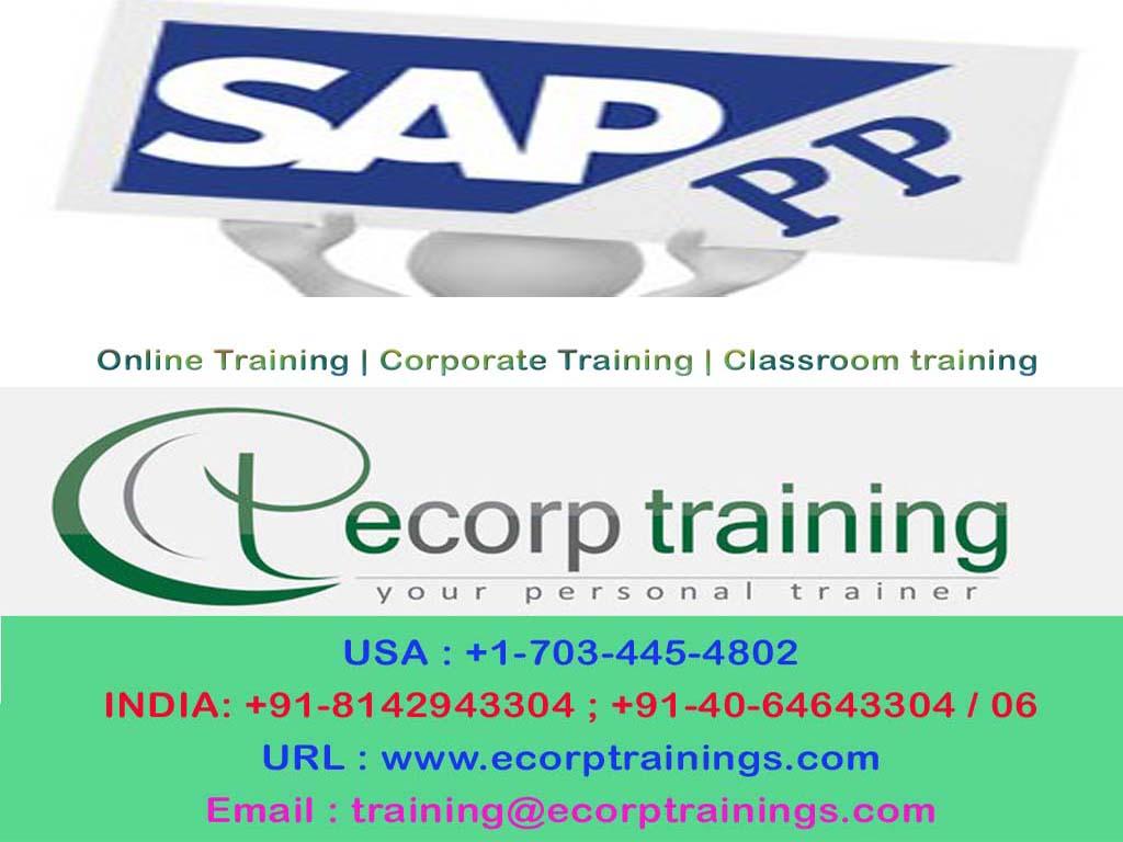 Best Sap Pp Online Training Institutes In Hyderabad India Uk Ecorp