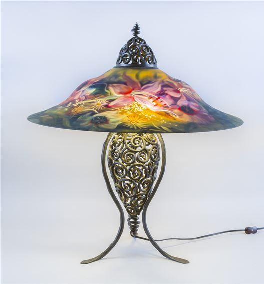 lampy malowane ręcznie