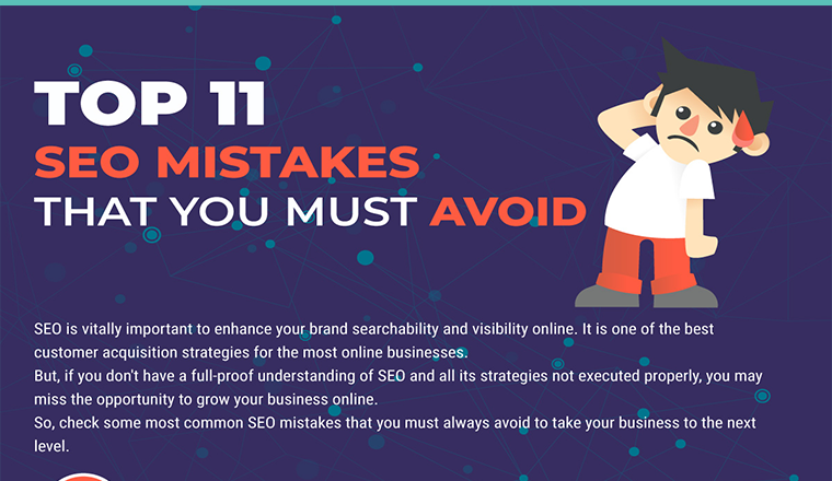 Top 11 SEO Mistakes that You Must Avoid #infographic