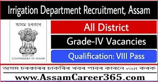 Irrigation Department Recruitment 2021 - Grade IV Vacancy