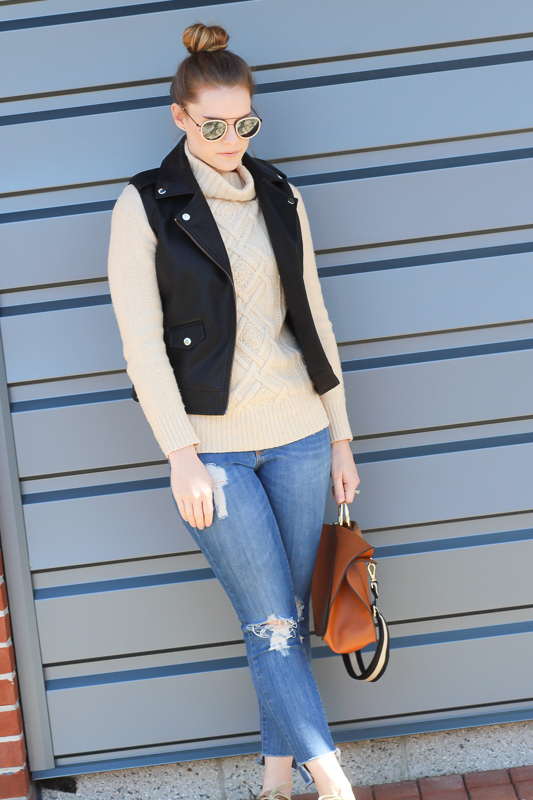 Winter Outfits- Leather Vests