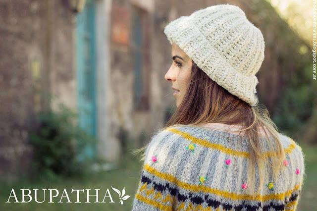 Abupatha invierno 2016 ropa de mujer tejidos artesanales.