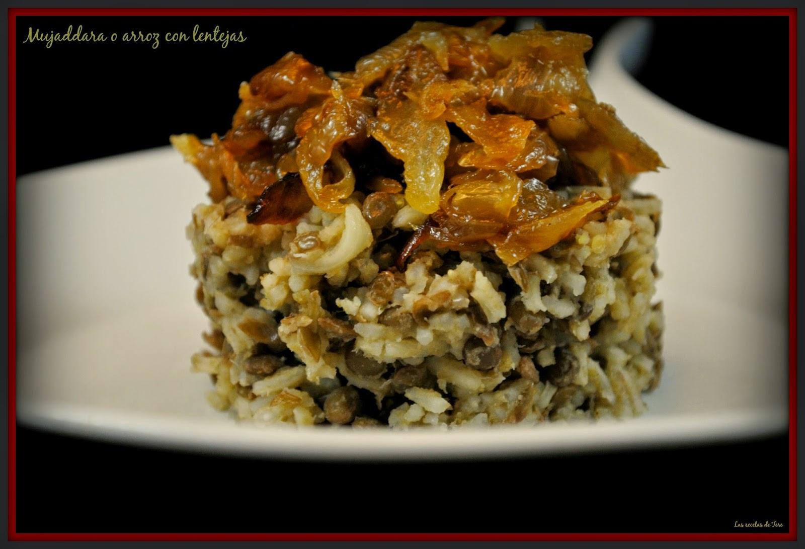 Mujaddara o arroz con lentejas tererecetas 05