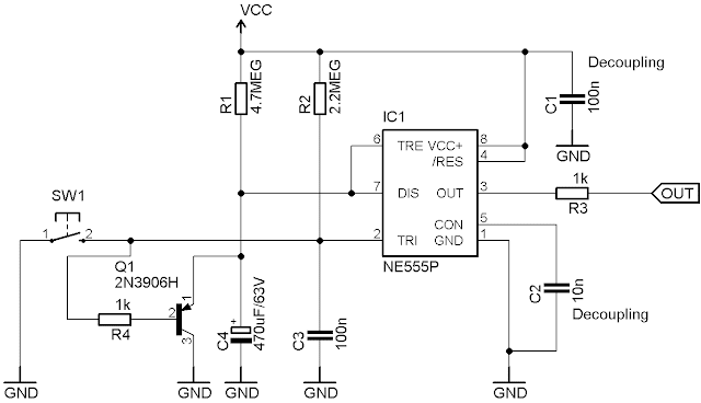 retriggerable 555 timing circuit  an interesting find