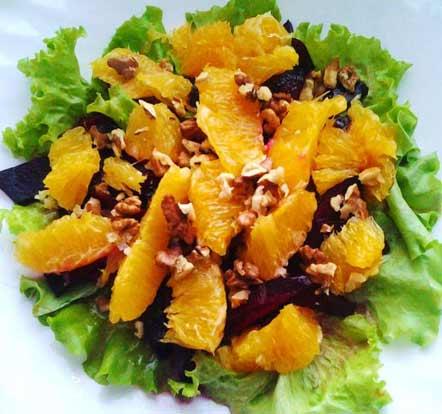 салат с апельсинами рецепт