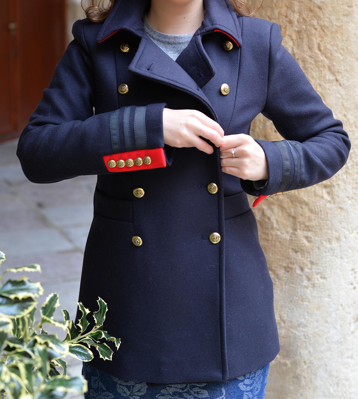 zara military coat fashion outfit