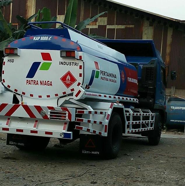 harga mobil truk tangki bbm mitsubishi fuso 2020