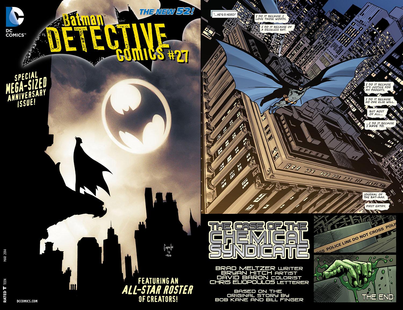 detective comics 27 2014 Bill Finger credits
