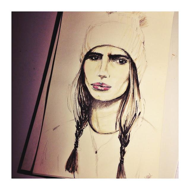 itziar aguilera, sketch, portrait