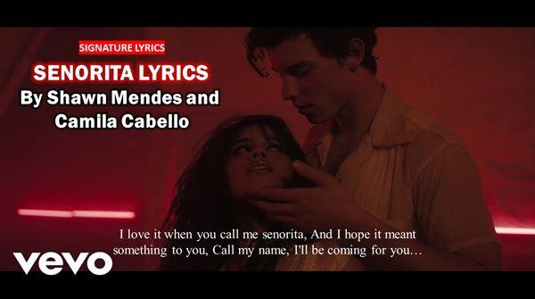 Senorita Lyrics By Shawn Mendes and Camila Cabello