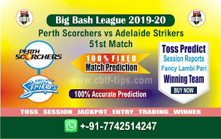 cricket prediction 100 win tips Perth vs Adelaide