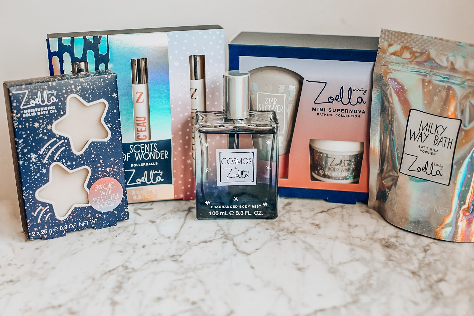 zoella Christmas cosmos collection 2018