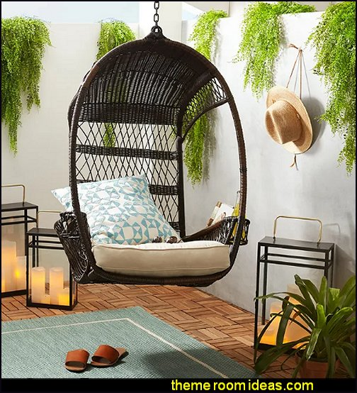 hanging chair Papasan Swingasan Sunasan rattan chairs outdoor furniture indoor furniture garden furniture