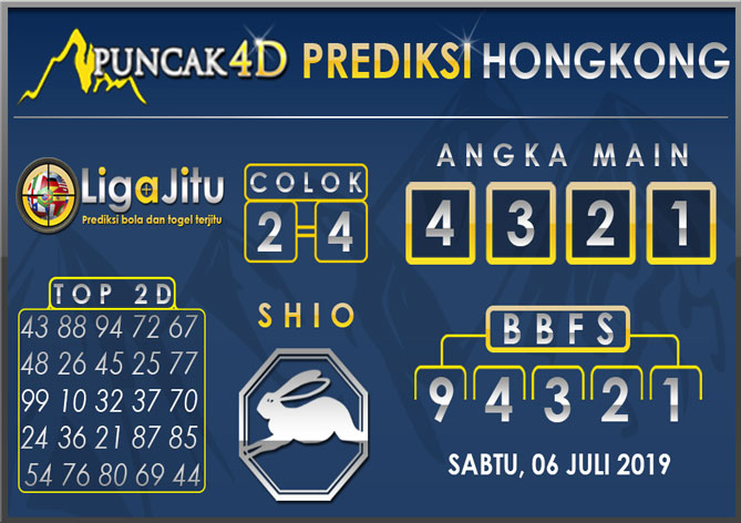 PREDIKSI TOGEL HONGKONG PUNCAK4D 06 JULI 2019