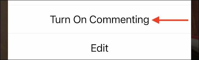 """حدد """"تشغيل التعليق"""" لتمكين التعليقات مرة أخرى."""