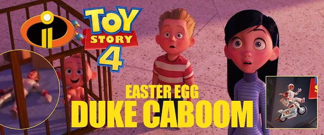 Duke Caboom in Jack Jack's crib in Incredibles 2