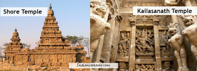 The monuments at Mamallapuram are among the oldest remaining ones in the South India. They are rock temples and sculptures created under the patronage of kings of the Pallava dynasty in the sixth to eighth centuries, A.D. king Mahendras cave temple at Mamandur is another fine work of Pallavas.