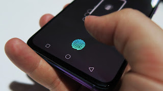 Fingerprint in front display of oppo R17 pro mobile