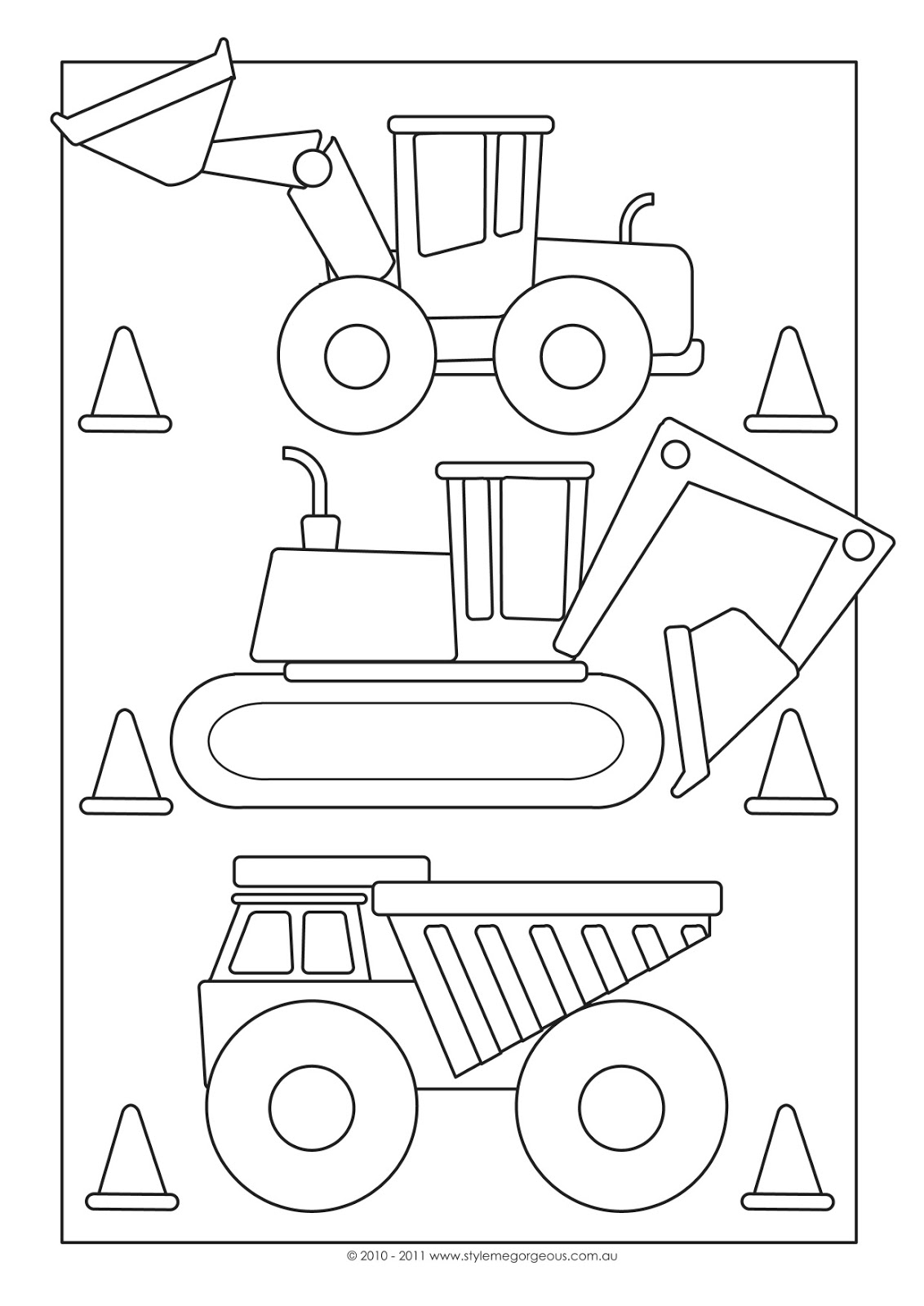 road construction sign coloring pages - photo #44