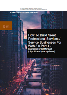 How to Build Great Professional Services / Service Businesses for Web3.0 part 1 - Sponsored By BJ Mannyst