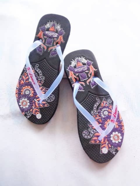 Sandal AMX Bunga Simplek - Sandal Jepit Motif Murah