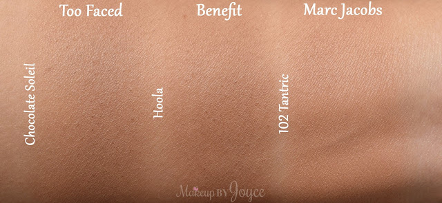 Marc Jacobs Omega Bronze Perfect Tan Powder 102 Tantric Too Faced Chocolate Soleil Bronzer Swatches