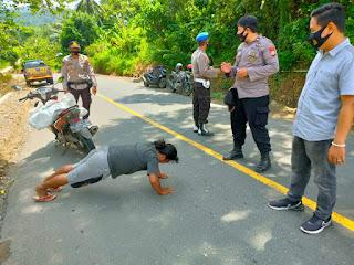 Personil Polsek Cendana Polres Enrekang Terus Gencarkan Operasi Yustisi