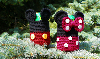 Free Mickey Mouse and Minnie Mouse Ornament Crochet Pattern | 237x400