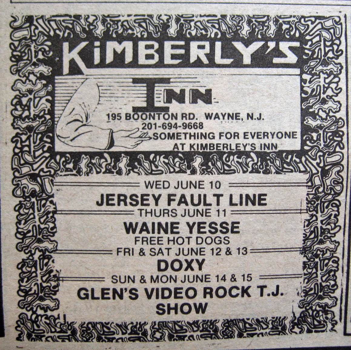 Kimberly's Inn band line up 1981