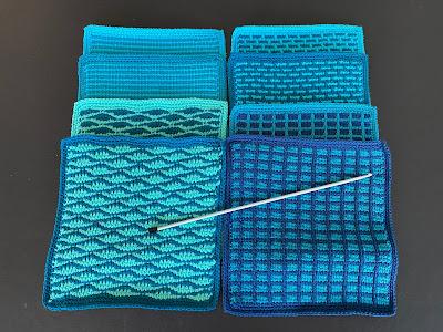 Tunesisk hækling, tutorial, Tunesian Crochet