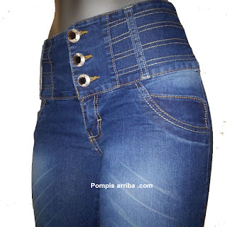 Corte Colombiano jeans dama Push Up skinny Levanta pompis