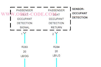 B1CDC Passenger Occupant Detector Circuit High