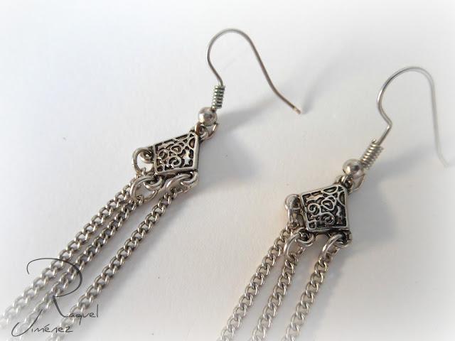 pendientes largos con cadenas