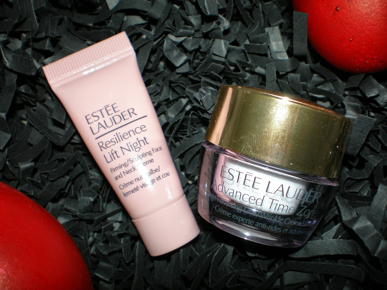 Estee Lauder Advanced Time Zone Age Reversing Line/Wrinkle cream and      Estee Lauder Resilience Lift Night Firming/Sculpting Face and Neck cream