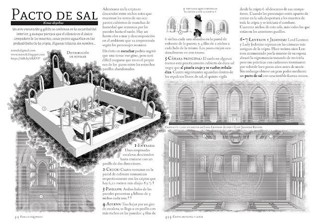 Pacto de sal, one-page dungeon, aventura de una sóla página