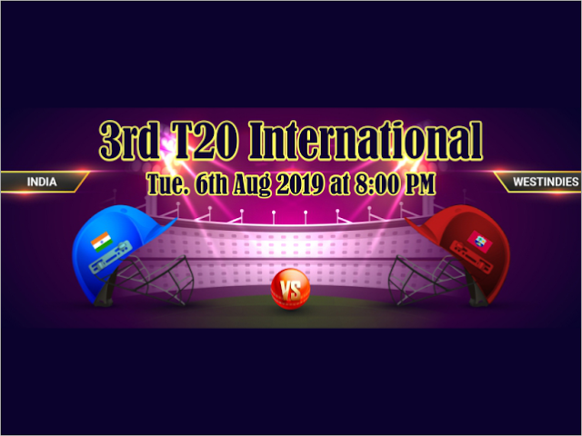 India vs West Indies 2019, 3rd T20I