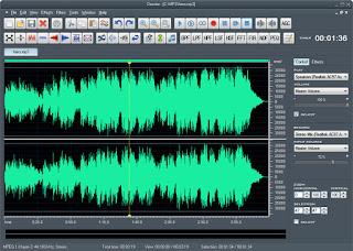 تنزيل برنامج تعديل الصوت واضافة مؤثرات Dexster Audio Editor