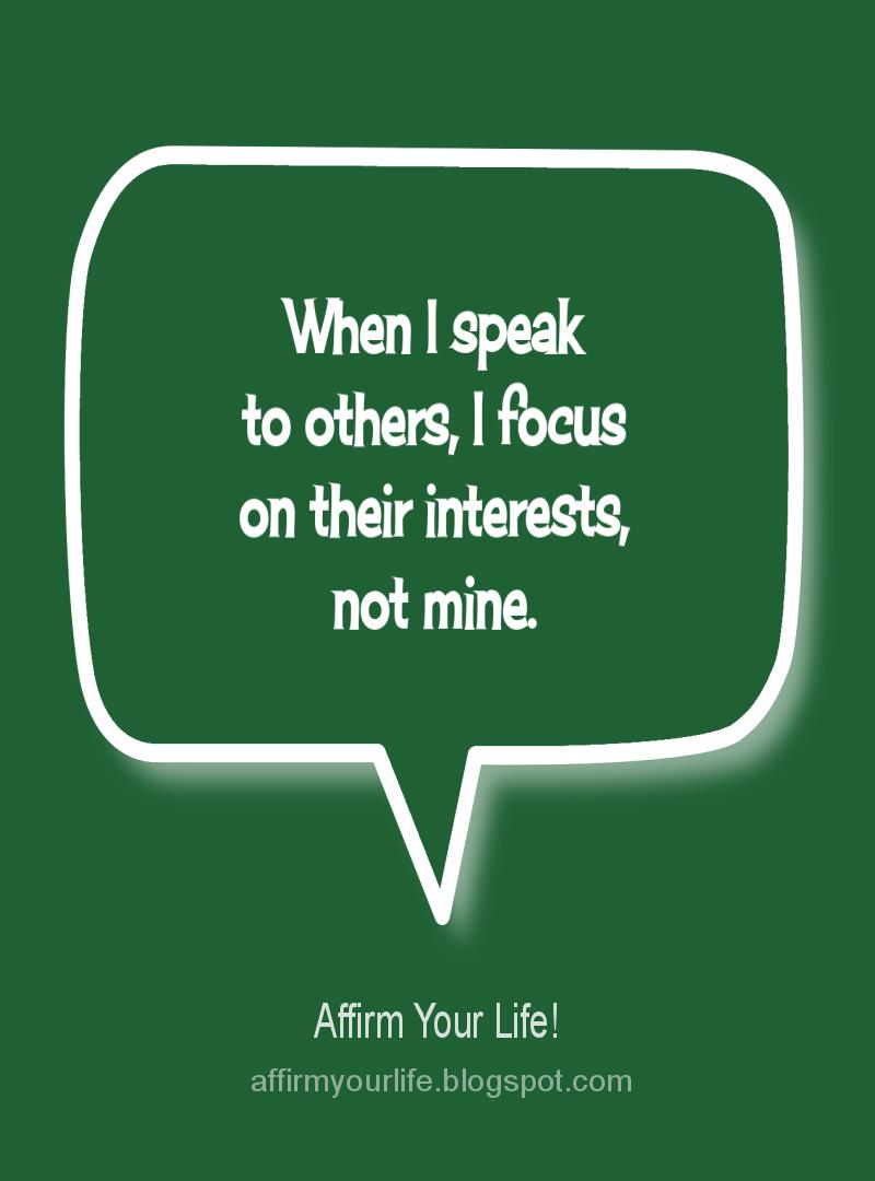 COMMUNICATION affirmation