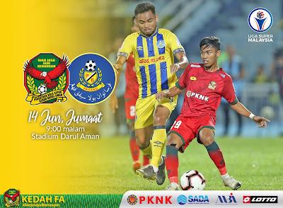 LIVE Kedah vs Pahang Liga Super 14.6.2019